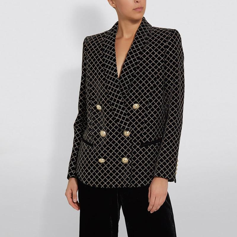 Primetime Looks-Double-breasted oversize glittered blazer