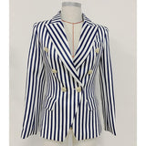 Primetime Looks-Double-breasted striped blazer