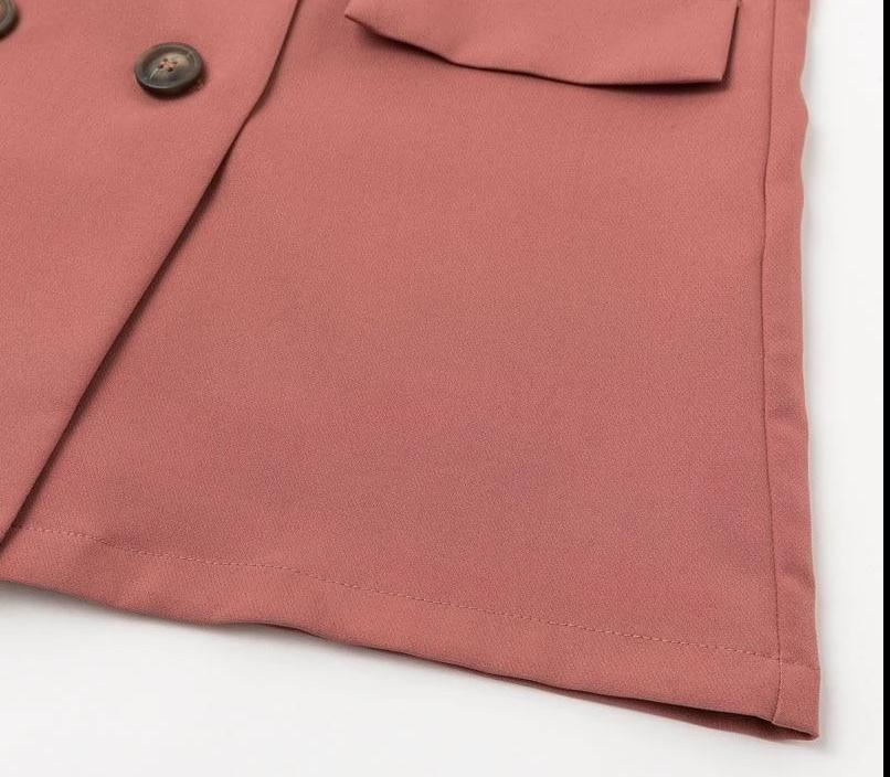 Dusty rose shorts suit-Primetime Looks