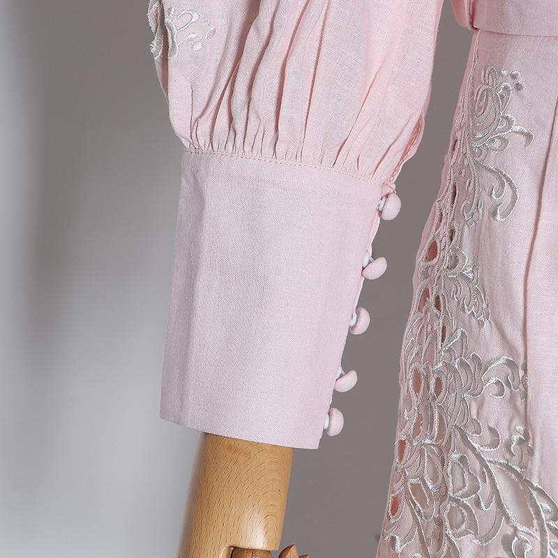 Primetime Looks-Eyelet lantern-sleeve blouse and shorts set