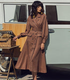 GIANNI BE GOOD Double-Breasted Flare Sleeved belted trench-Primetime Looks