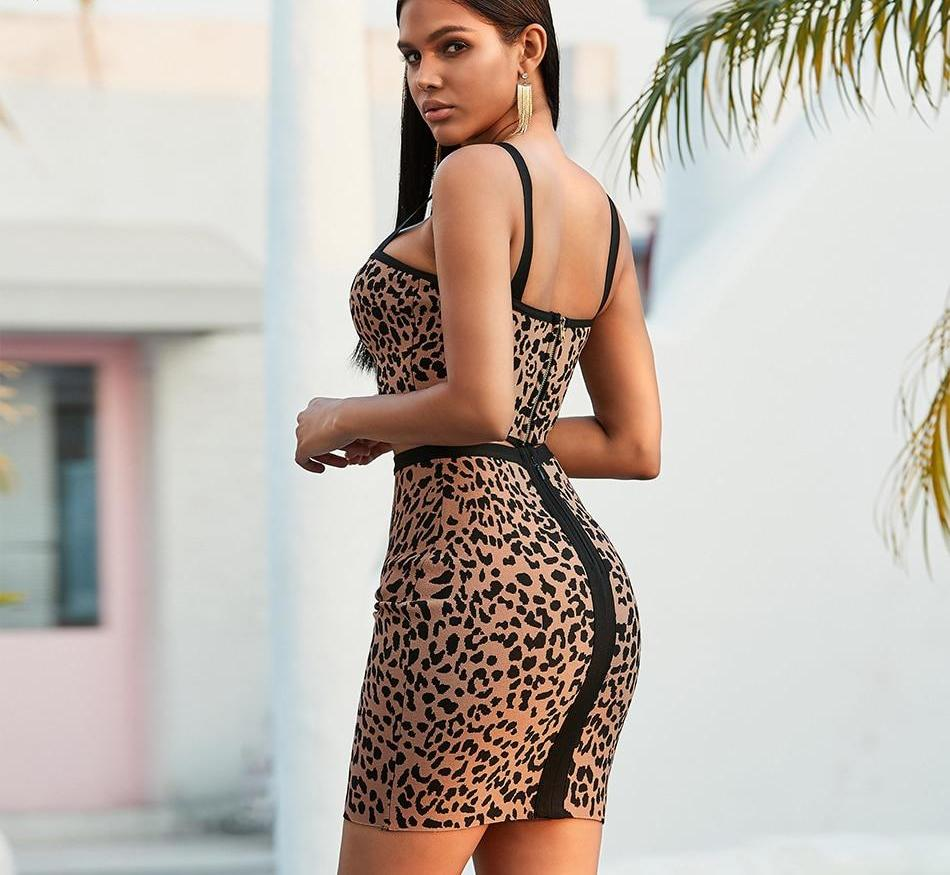 Primetime Looks-HAVEN Leopard Two-Piece Skirt Set