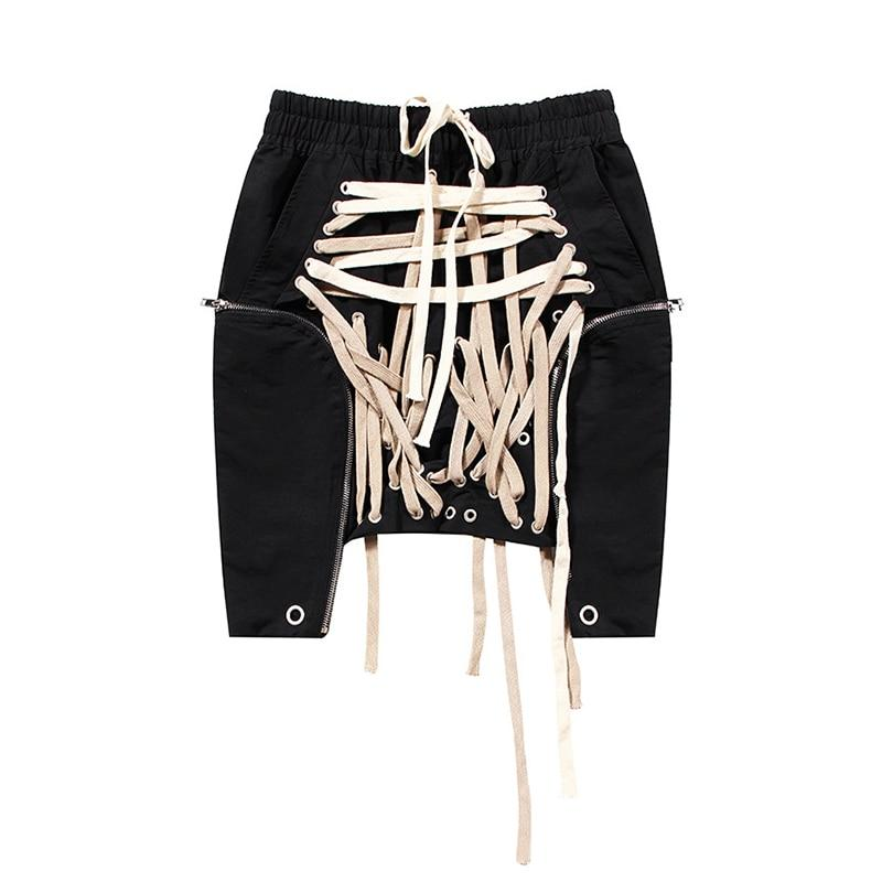 Lace up Bandage High Waist Skirt