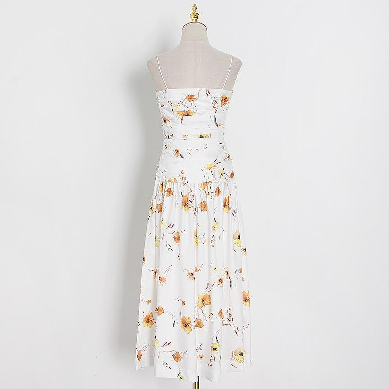 MARIA floral-print ruched midi dress