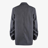Primetime Looks-Oversize twisted-sleeve long blazer