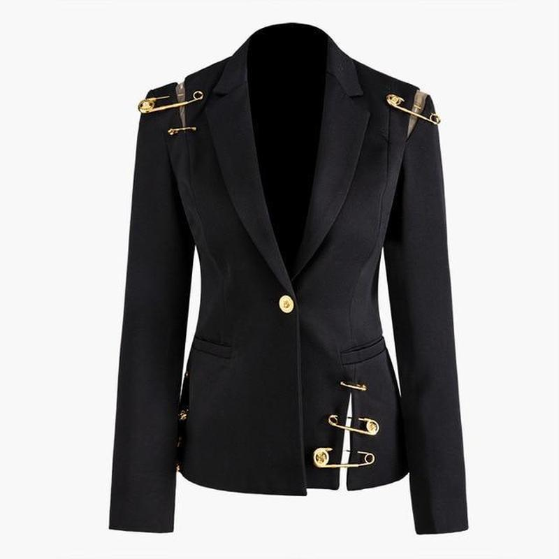 Primetime Looks-PIN IT UP elegant black blazer