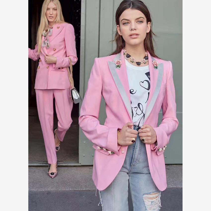 Primetime Looks-PINK OF PINKS floral blazer