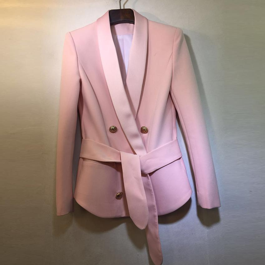 Primetime Looks-Ria double-breasted blazer in pink