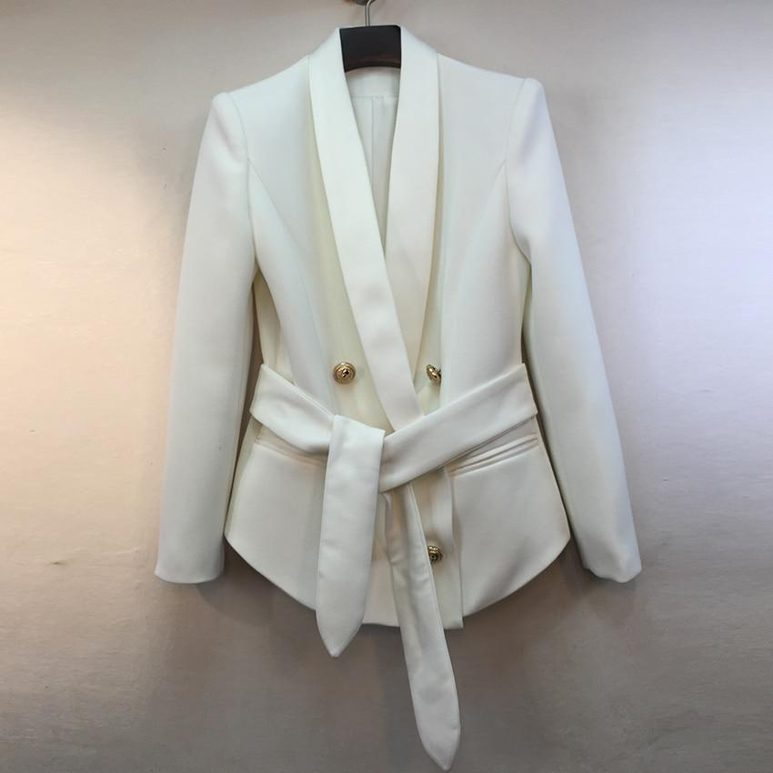 Primetime Looks-Ria double-breasted blazer in white