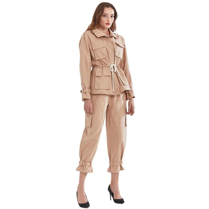 Safari drawstring jacket and short pants
