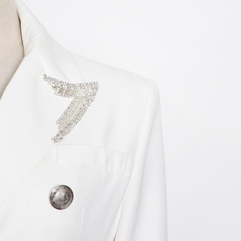 Primetime Looks-Smart Blazer with Embellished Lapel