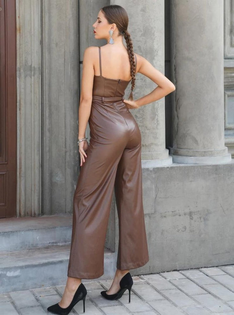 Primetime Looks-Stylish jumpsuit in brown