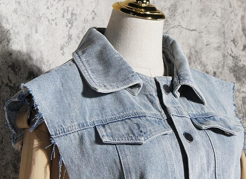 Primetime Looks-Tunic and denim vest set