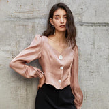Vintage Chic Pink Blouse