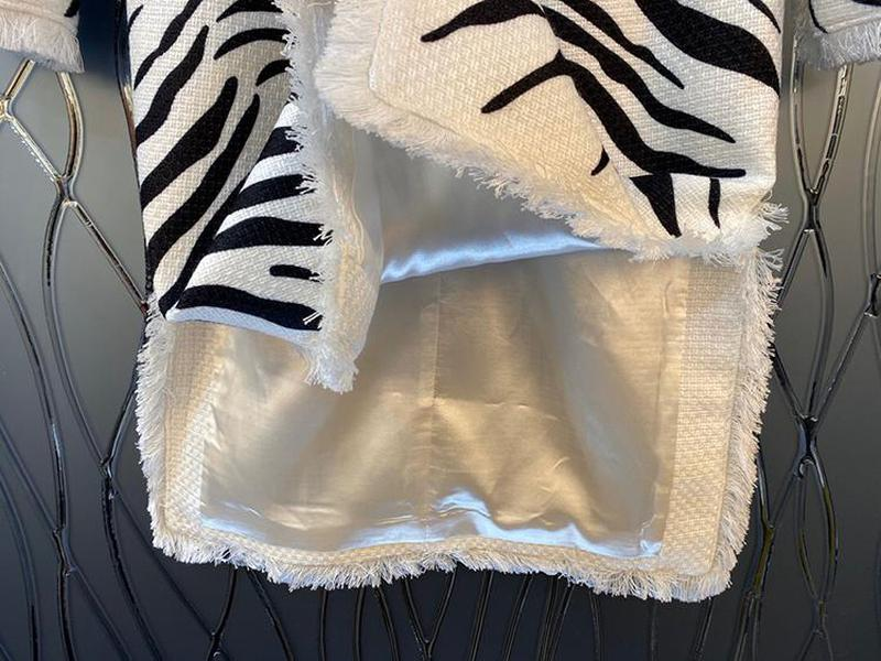Primetime Looks-Zebra print jacket and skirt set