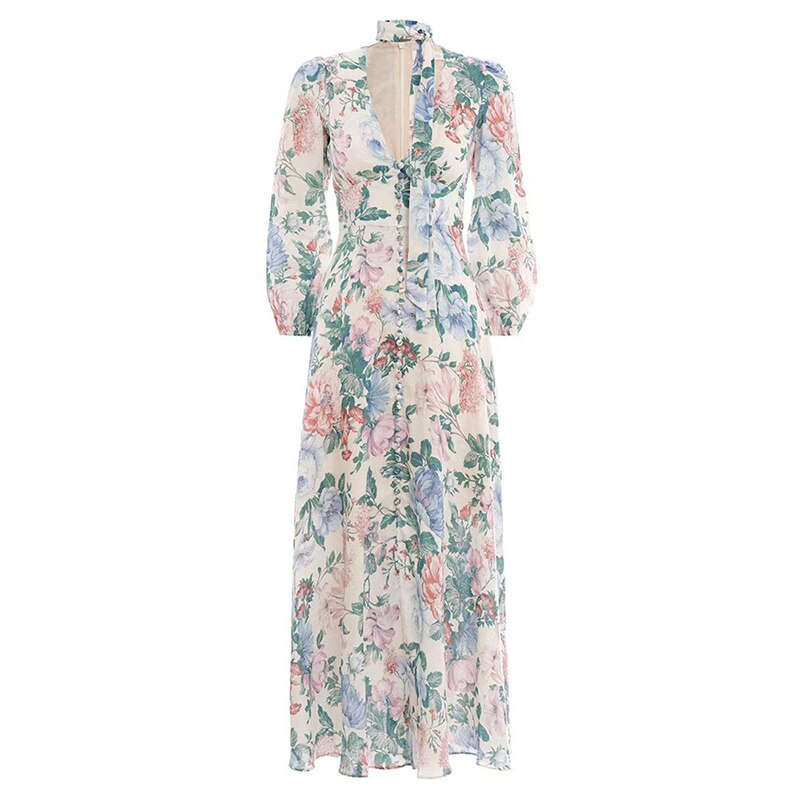 Prairie chic floral maxi dress
