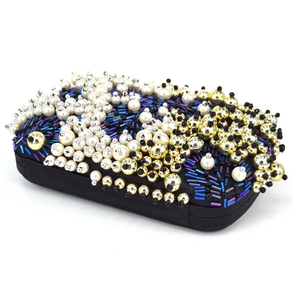 MILKY WAY beaded evening purse