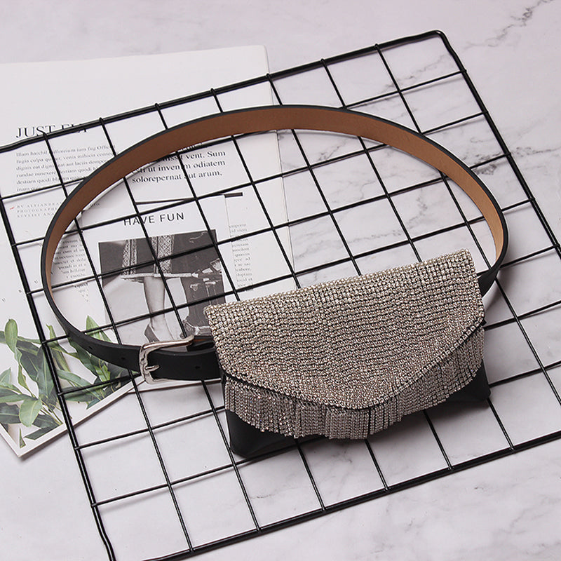 Tasseled belt purse accessory