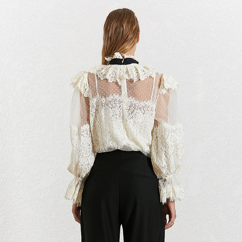 ALICIA bowknot lace blouse