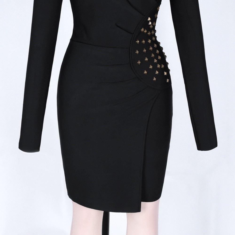LUNA Turtleneck Long Sleeve Sheath Dress