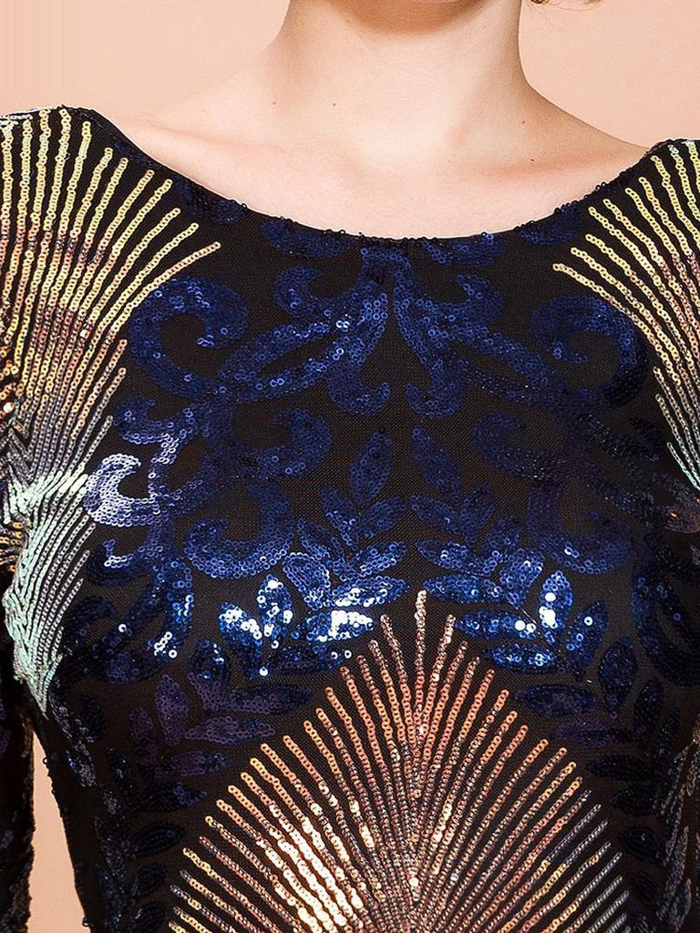 VOLCANA sequinned mini dress