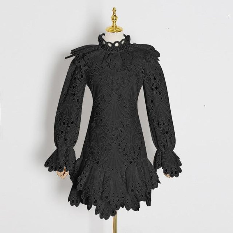 MEADOW eyelet lace mini dress