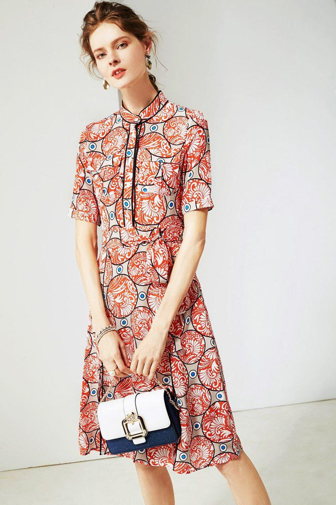 RUBY Silk printed summer dress