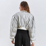 Ruched short jacket in colors