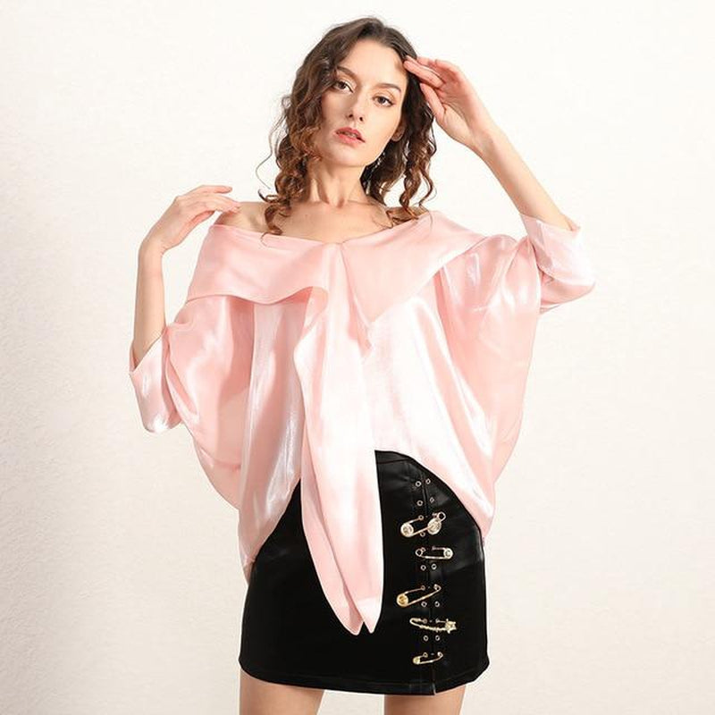 Organza batwing blouse in colors