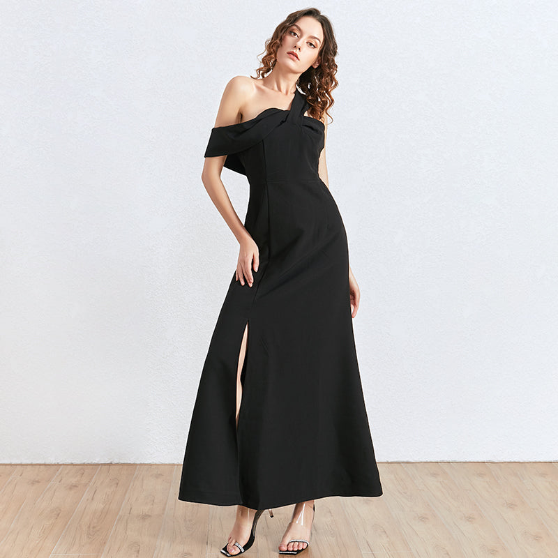 RAE One-shoulder Slit Maxi Dress