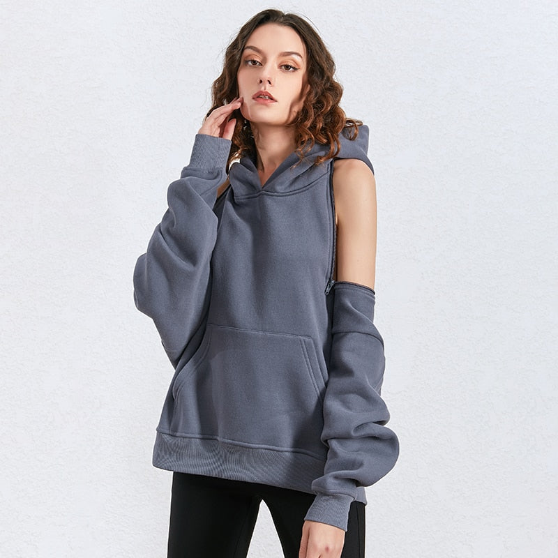 Hooded sweatshirt with a twist
