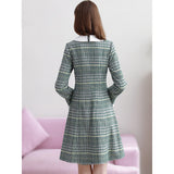 FLAIREY Plaid Bow Tweed Dress