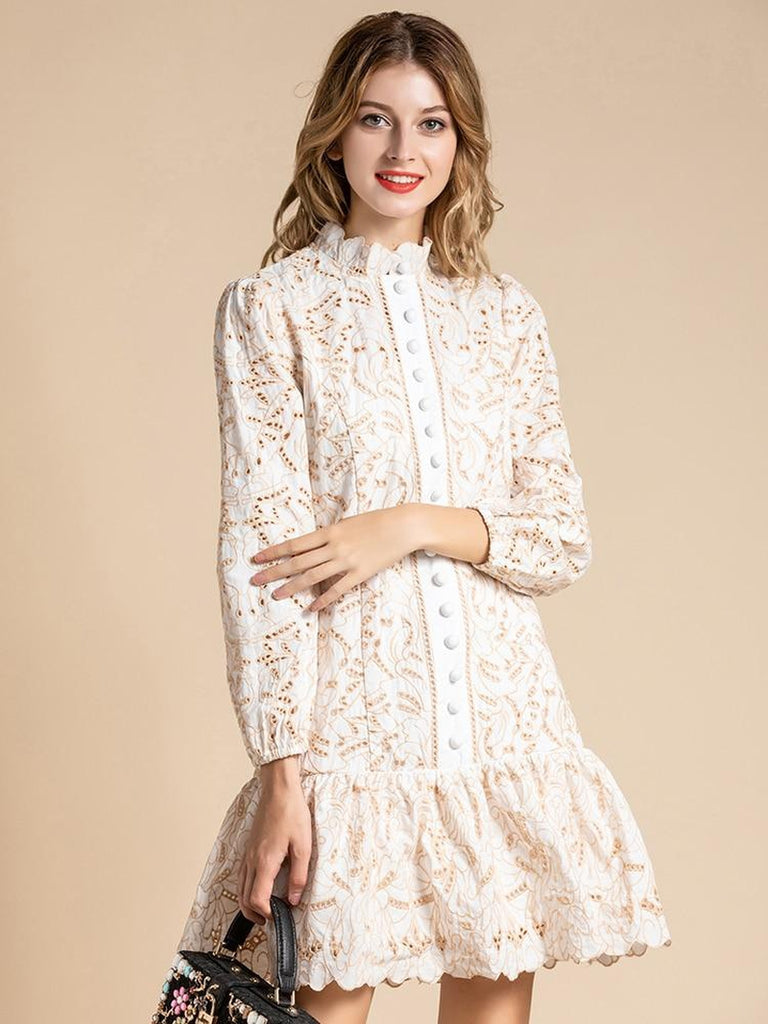 AURELIA eyelet lace mini dress