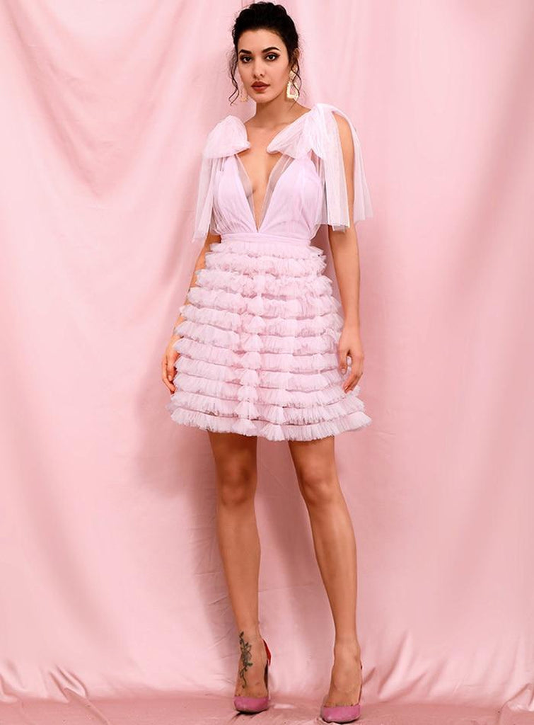 REGINA Puffy dress in pink