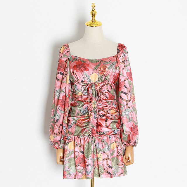JULIETTE high-waist floral dress