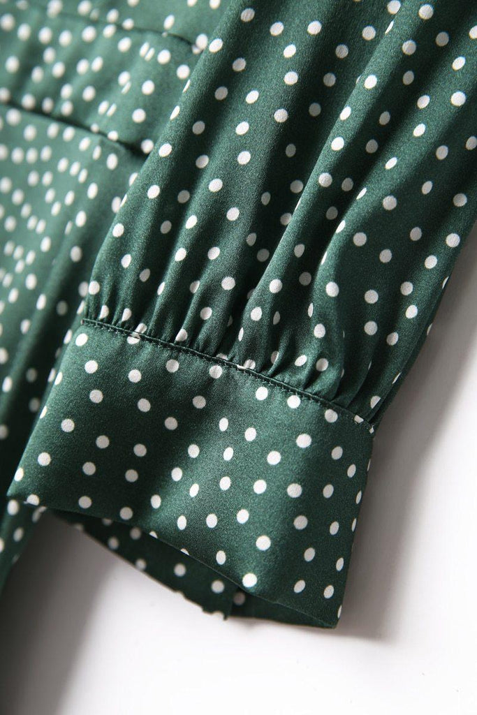 LIOTTA Polka dot silk midi dress
