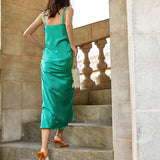 RINNA satin holiday maxi dress