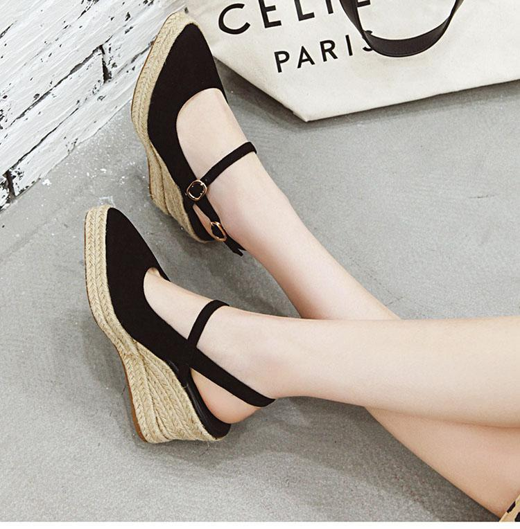 Wedge Slingback Pointy Pump Shoes