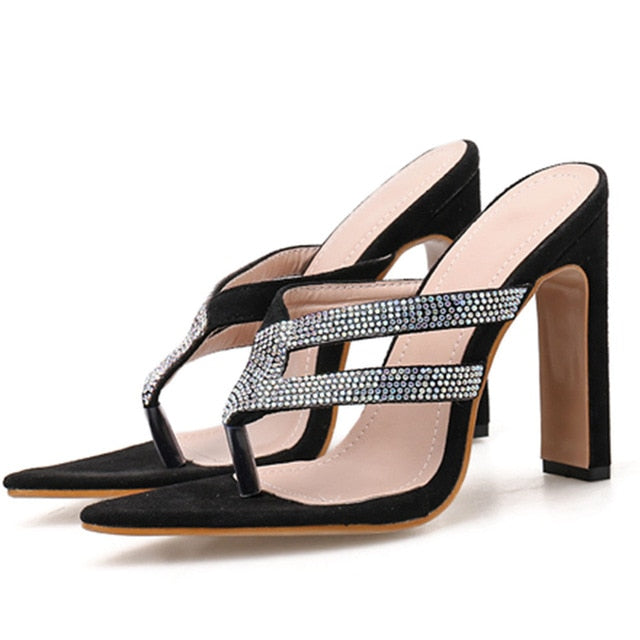High Heels Embellished Sandals