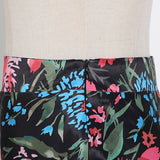 Mermaid Flowery High Waist Zipper Skirt