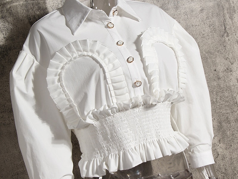 Vintage Frilly Crop Top