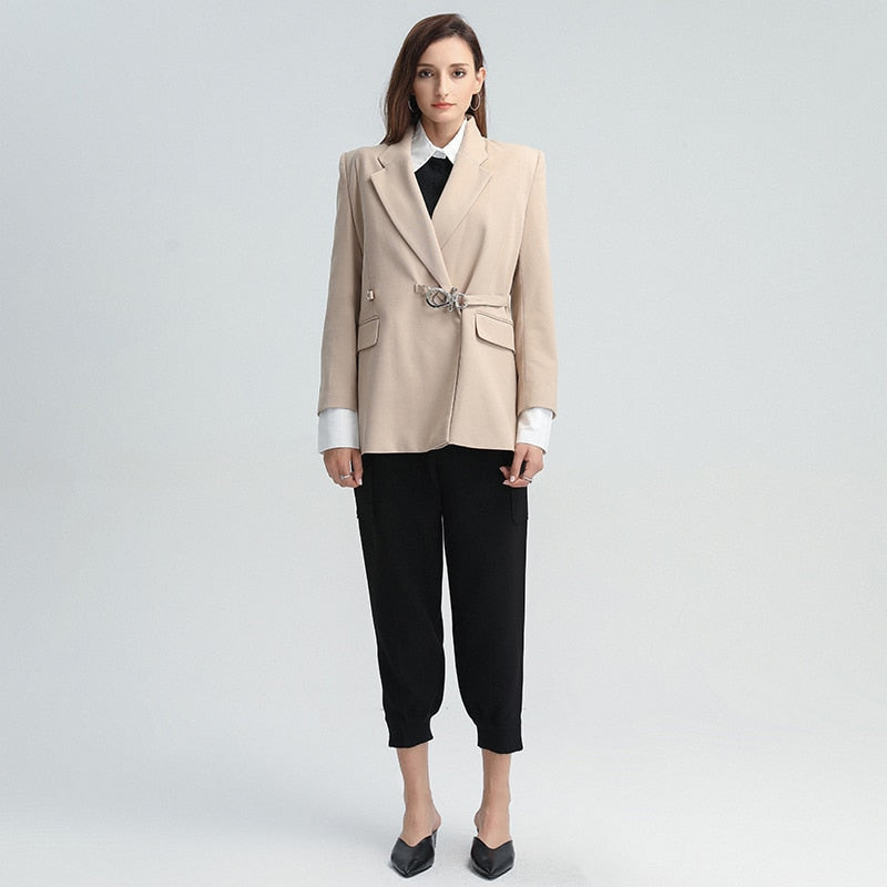 Elegant lapel blazer in colors