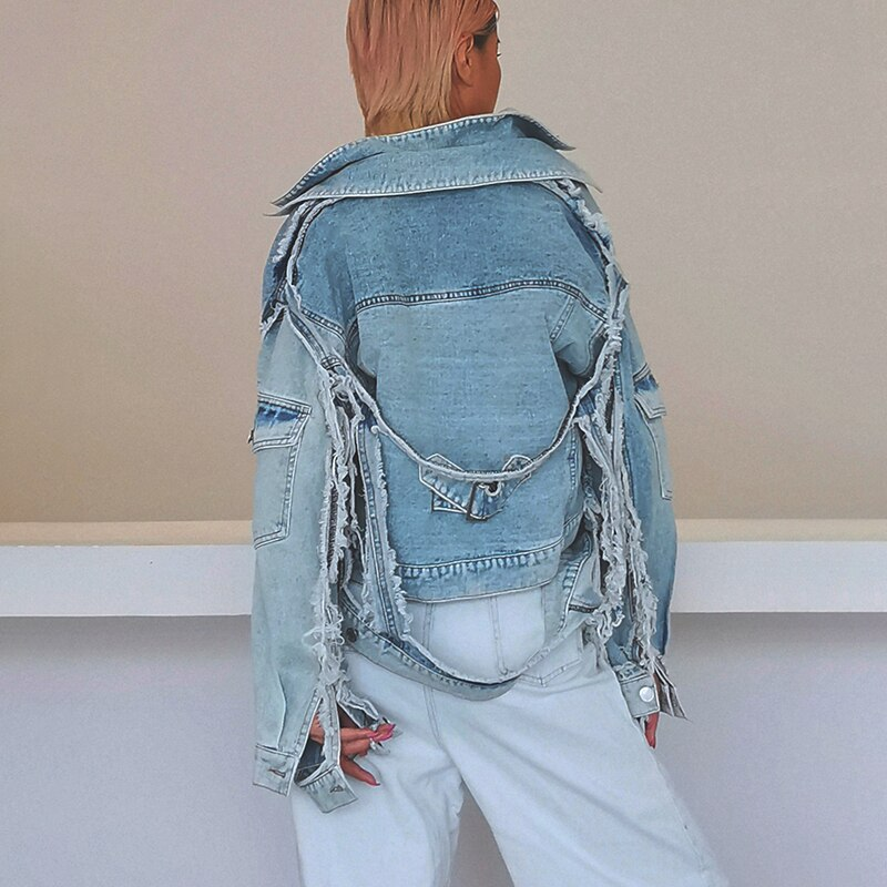 90's calling short denim jacket