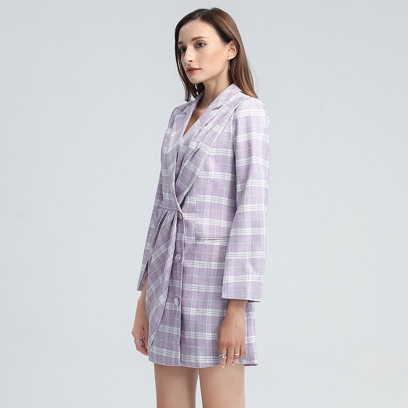 JANNI Plaid Mini Dress in colors