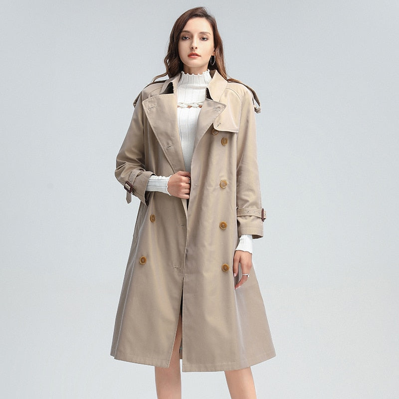 Double-breasted Trench in Khaki