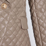 Luxe Quilted blazer in cream