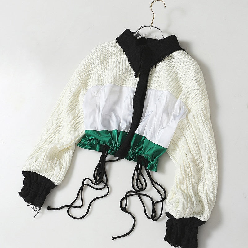 Chic Color Block Knit Top