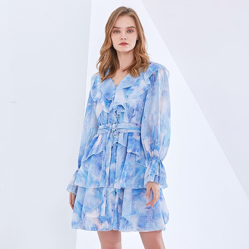 DEANNA Flutter Mini Dress in colors