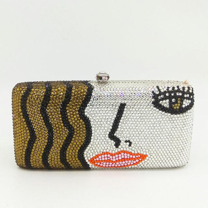 BLONDE embellished clutch