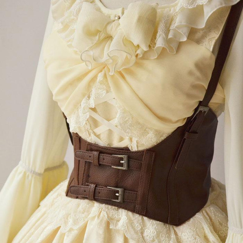Corset Vest Steampunk Harness with Buckle
